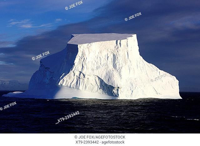 large tabular iceberg in the antarctic ocean Antarctica