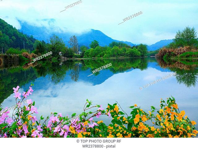 Spring Ke village Yixian County Anhui Province China