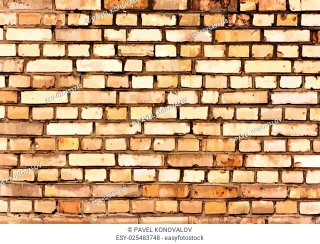 Brick wall detail texture. EPS 10 vector illustration without transparency