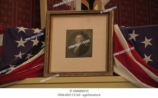 Portrait of George Washington at Ford's Theatre where Abraham Lincoln was assassinated