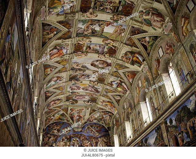 Ceiling of the Sistine Chapel, Vatican, Rome, Italy