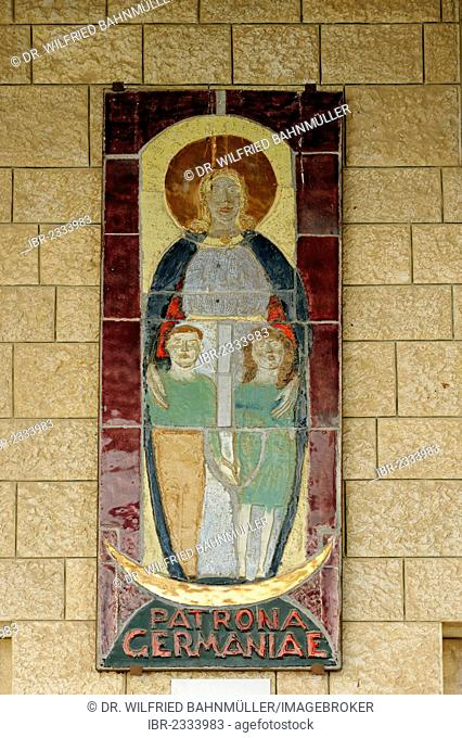 Patrona Germaniae, Basilica of Annunciation, Nazareth, Galilee, Israel, Middle East