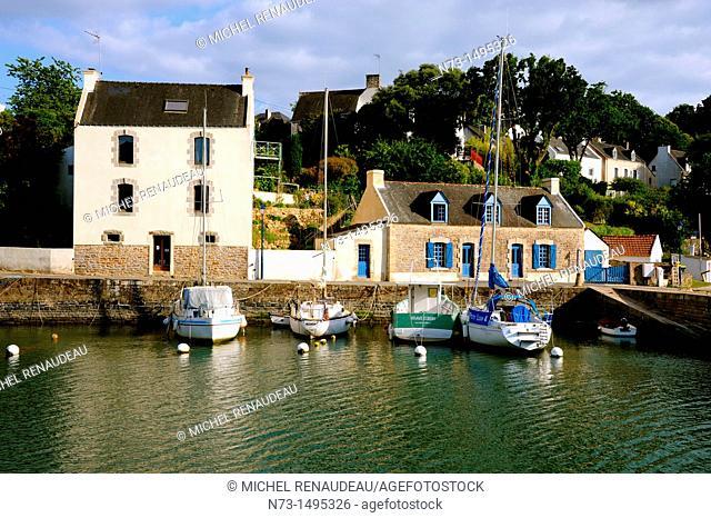 Harbor view, Le Bono, Gulf of Morbihan, Morbihan, Brittany, France
