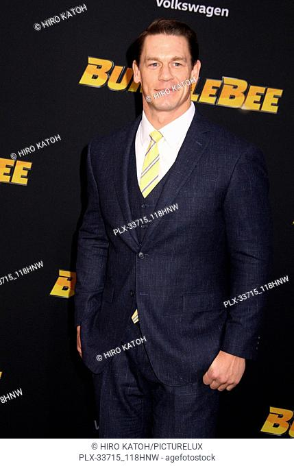 """John Cena 12/09/2018 The Global Premiere of """"""""Bumblebee"""""""" held at TCL Chinese Theater in Los Angeles, CA Photo by Hiro Katoh / HNW / PictureLux"""