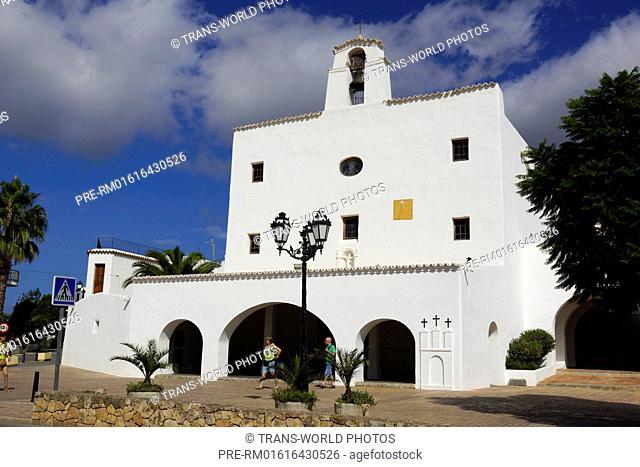 Defense church Sant Josep, Sant Josep de sa Talaia, Ibiza, Spain / Wehrkirche Sant Josep, Sant Josep de sa Talaia, Ibiza, Spanien