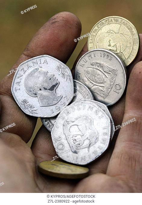 African Money Tanzanian Shillings. Tanzania. East Africa