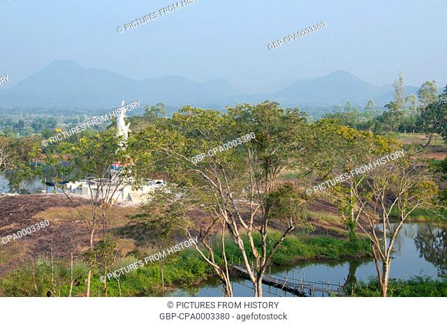 Thailand: Guanyin or Goddess of Mercy in the grounds of Wat Phra That Satcha, Ban Tha Li, Loei Province, northeast Thailand