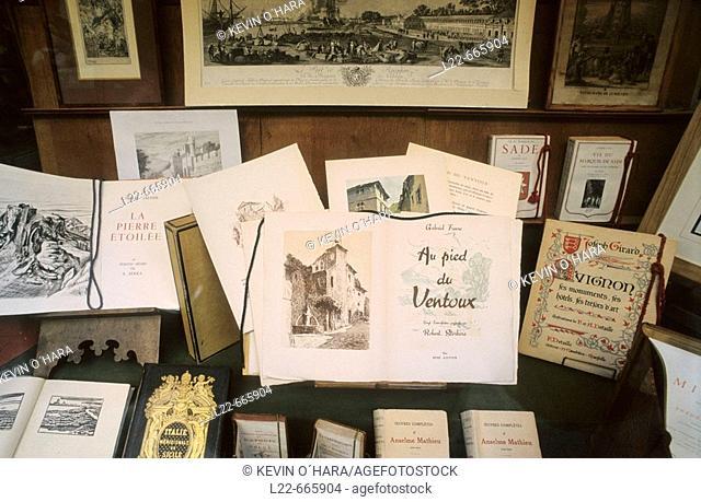 Famous Roumanille bookshop. Avignon city. Vaucluse departement. Provence. France