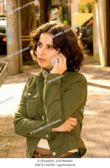 Woman Using Cellular, São Paulo, Brazil