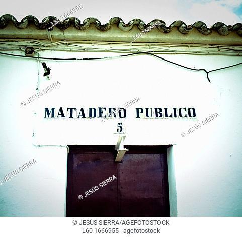 'Matadero Público' Zufre, Sierra de Aracena y Pico de Aroche, Huelva, Spain
