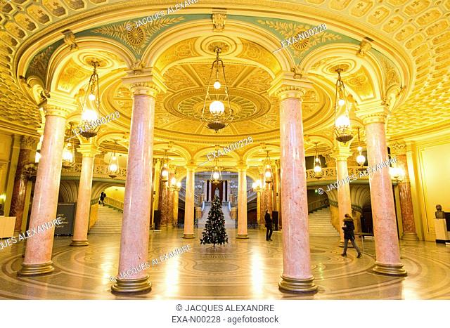 Entrance Hall of the Romanian Athenaeum, Bucharest, Romania