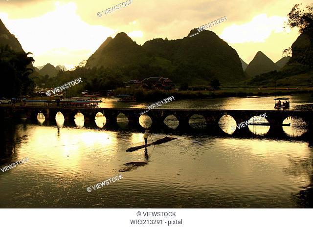Jingxi, goose spring scenic area in guangxi