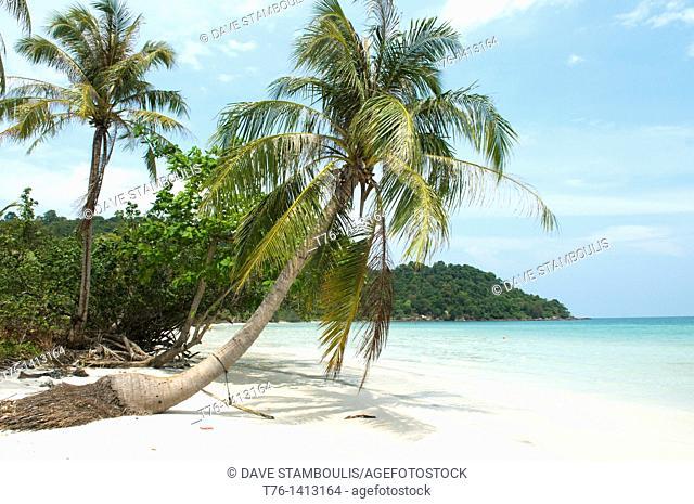 beautiful Bai Sao beach on Phu Quoc Island in Vietnam