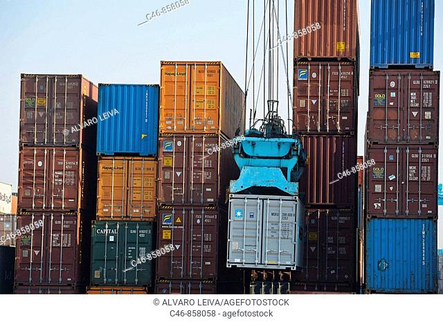 Port of Algeciras. Cadiz province, Andalusia, Spain
