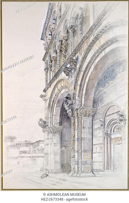 The Duomo of San Martino, Lucca, July-August 1874. Artist: John Ruskin