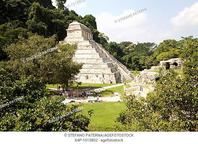Temple of the Inscriptions, Palenque Archaeological Site, Chiapas Mexico