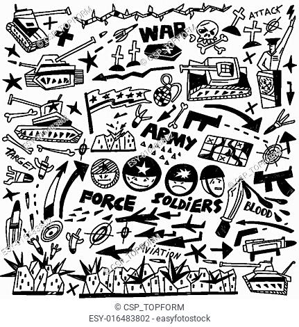 war - doodles collection