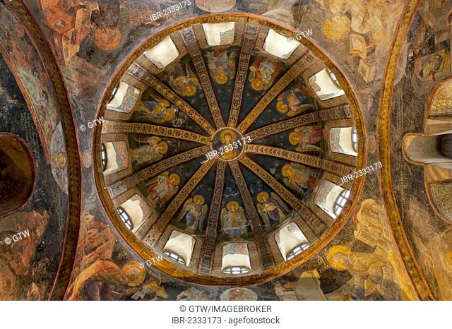 The Virgin and the Child, Parecclesion dome, Church of the Holy Saviour in Chora or Kariye Camii, Istanbul, Turkey