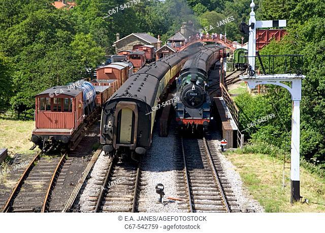 Goathland Station North East Yorkshire Steam Railway UK July