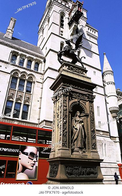 England,London,Temple Bar Memorial and the Law Courts