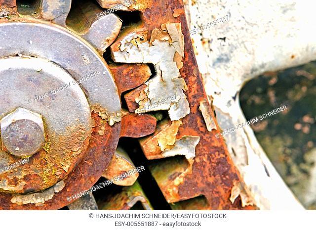 rusty gear-wheel