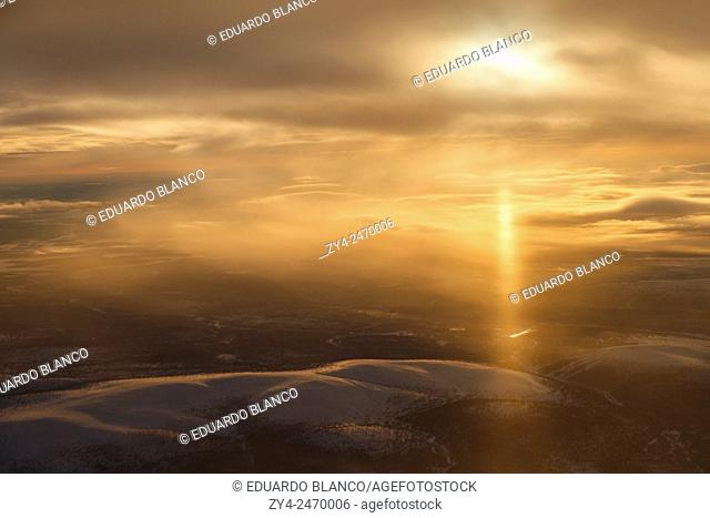 Landscape. Air view. Lapland. Finland. Europe
