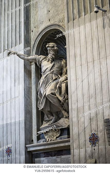 Statue of Prophet Elijah erected in St. Peter's Basilica in Rome by the Dominican Order
