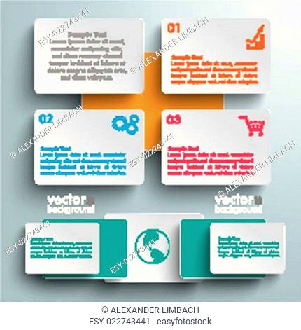 Batched Colored Rectangles 3 Options Infographic