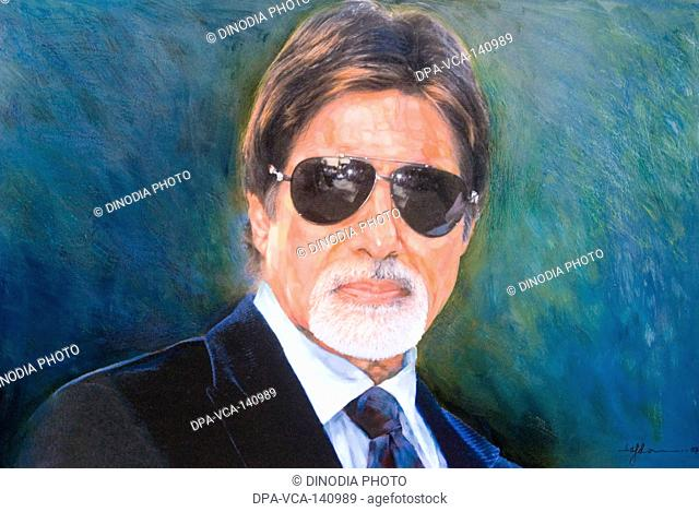 Bollywood film superstar Amitabh Bachchan by pradeep Chandra & Safdar Shamee