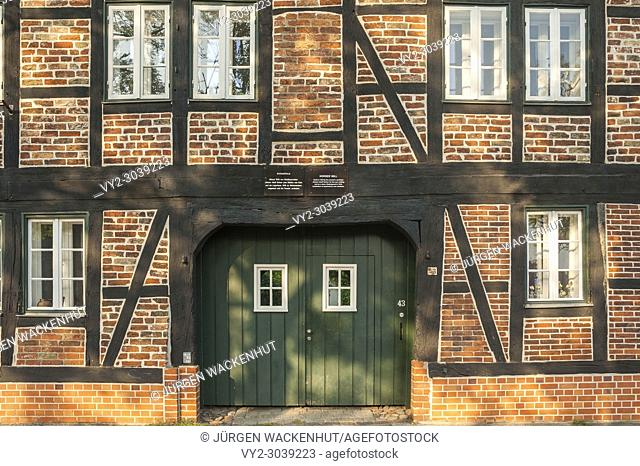 Facade of the Horses Mill Rossmühle, Unesco-world cultural heritage, Lubeck, Baltic Sea, Schleswig-Holstein, Germany, Europe