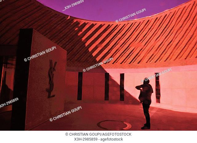 outside entrance of the Musee Yves Saint-Laurent (design by Studio KO), Marrakesh, Morocco, North Africa