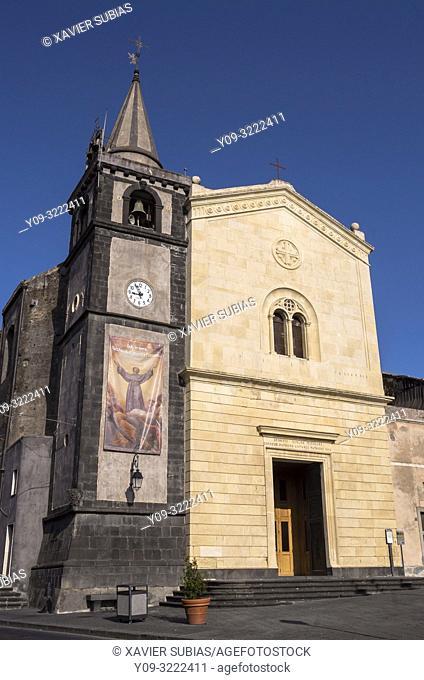 Church Madre Spirito Santo, Nicolosi, Catania, Sicily, Italy