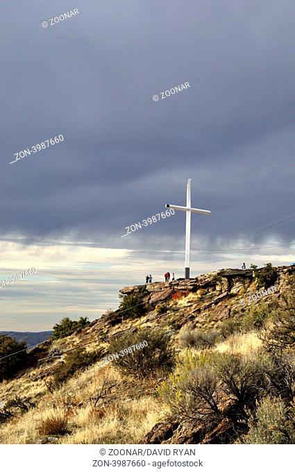 USA, Idaho, Boise, Table Rock Butte, Cross