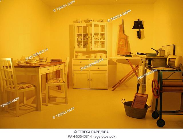 A play kitchen from 1932 of British Princess Elizabeth (later Elizabeth II) is a part of the exhibition 'Royal Childhood' in London, United Kingdom