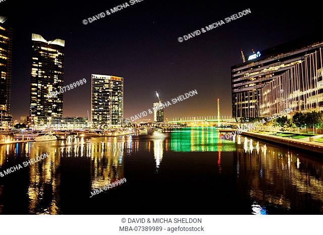 Landscape, Docklands, Waterfront, Apartments, Melbourne, Victoria, Australia, Oceania
