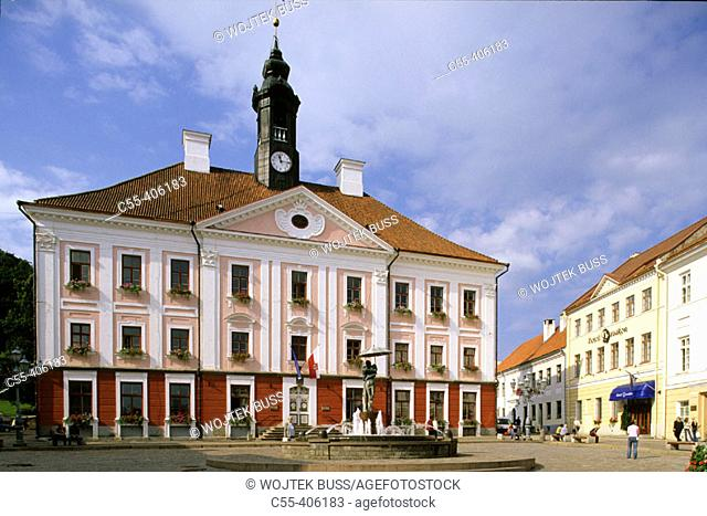 Town Hall. Raekoja Plats square. Tartu. Estonia