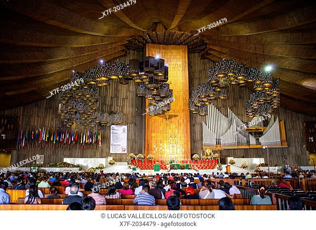 New Basilica de Nuestra Senora de Guadalupe, Our Lady of Guadalupe, Mexico City, Mexico