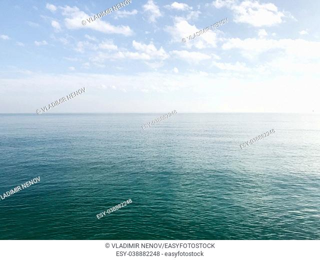 Blue sky and sea in the morning. Bulgaria