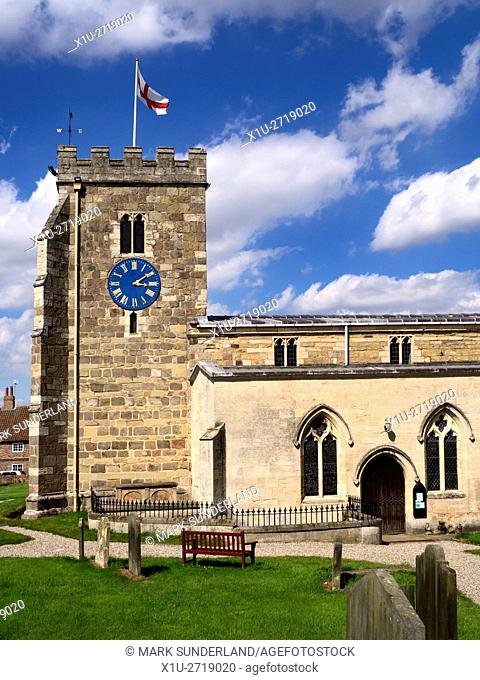 St Andrews Parish Church at Aldborough Yorkshire England