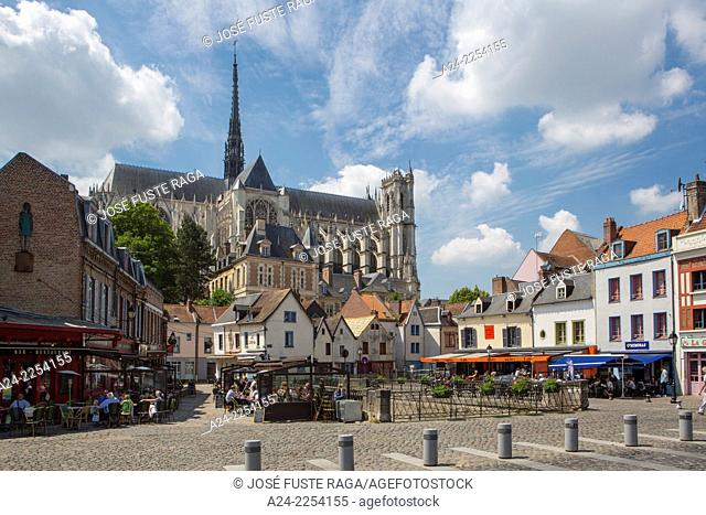 France,Amiens City , Amiens Cathedral