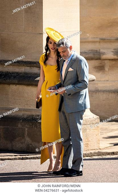 The wedding of Prince Harry and Meghan Markle at Windsor Castle Featuring: George Clooney, Amal Clooney Where: Windsor, United Kingdom When: 19 May 2018 Credit:...