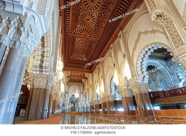 Morocco, Casablanca, Mosque of Hassan II