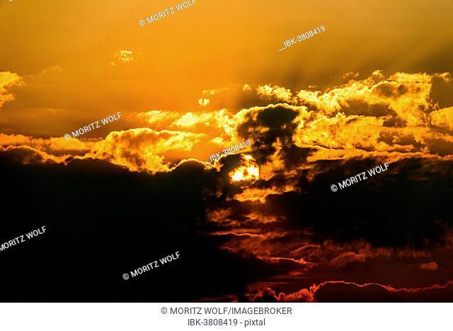 Clouds at sunset, Etosha National Park, Namibia