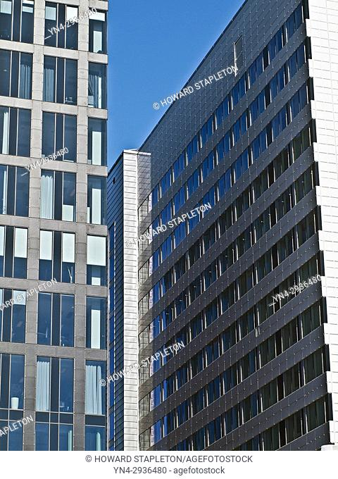 Modern highrise buildings in Stockholm, Sweden