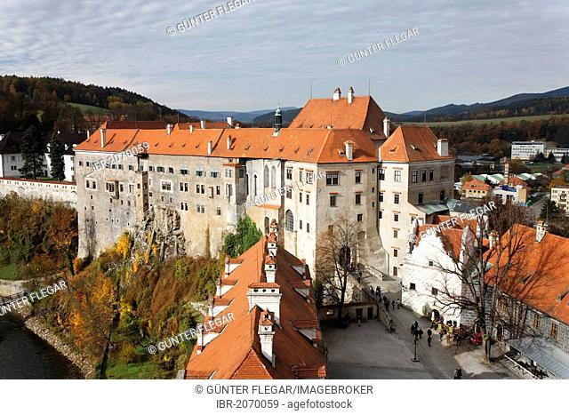 Horní Hrad, Upper Castle, Ceský Krumlov Castle, Cesky Krumlov, UNESCO World Heritage Site, South Bohemia, Bohemia, Czech Republic, Europe