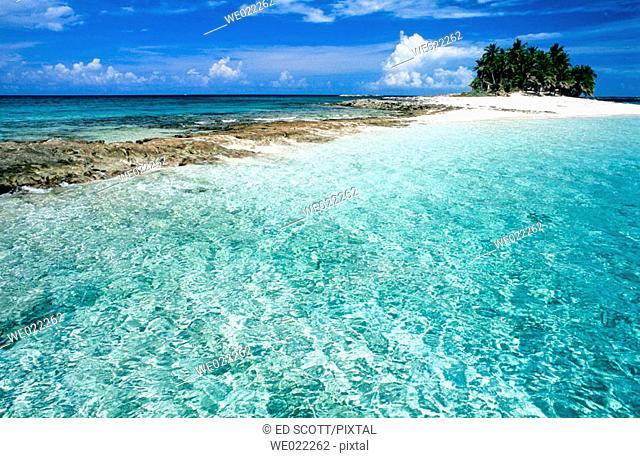 Gilligham sandy islet. Nassau, Providence island. Bahamas, Caribbean