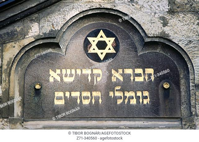 Old Jewish Cemetery, Assembly Hall. Prague. Czech republic