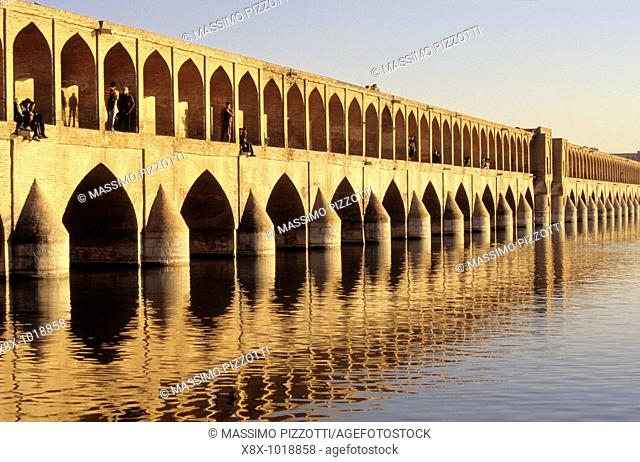Si-o-Seh Pol, also called the Bridge of 33 Arches, Isfahan, Iran
