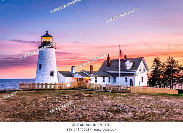 Pemaquid Point Light in Bristol, Maine, USA