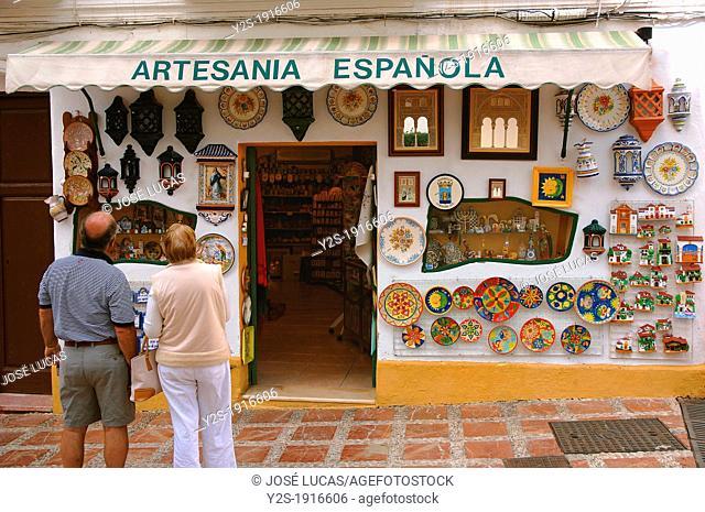 Souvenir shop, Old town, Marbella, Malaga-province, Spain